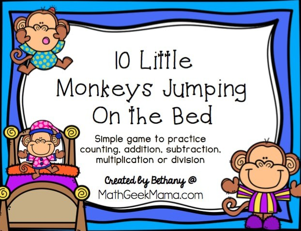 10 Little Monkey Math Game