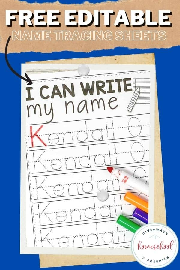 worksheets for practicing name tracing