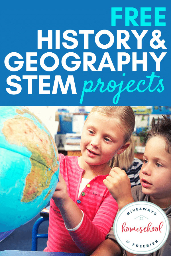 FREE History & Geography STEM Projects. #historyandSTEM #geographyandSTEM #STEMprojects