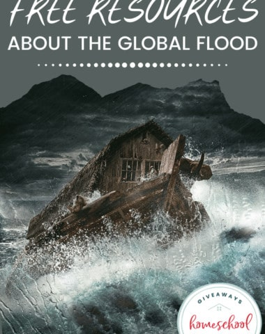 Free Resources About the Global Flood. #globalfloodresources #globalfloodprintables #NoahsArkprintables #resourcesforglobalflood