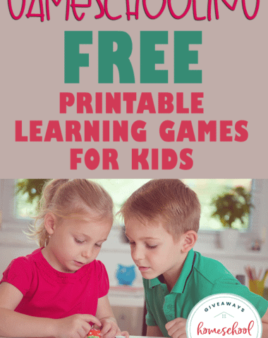 young kids playing a dice game together with overlay - Gameschooling: FREE Printable Learning Games for Kids