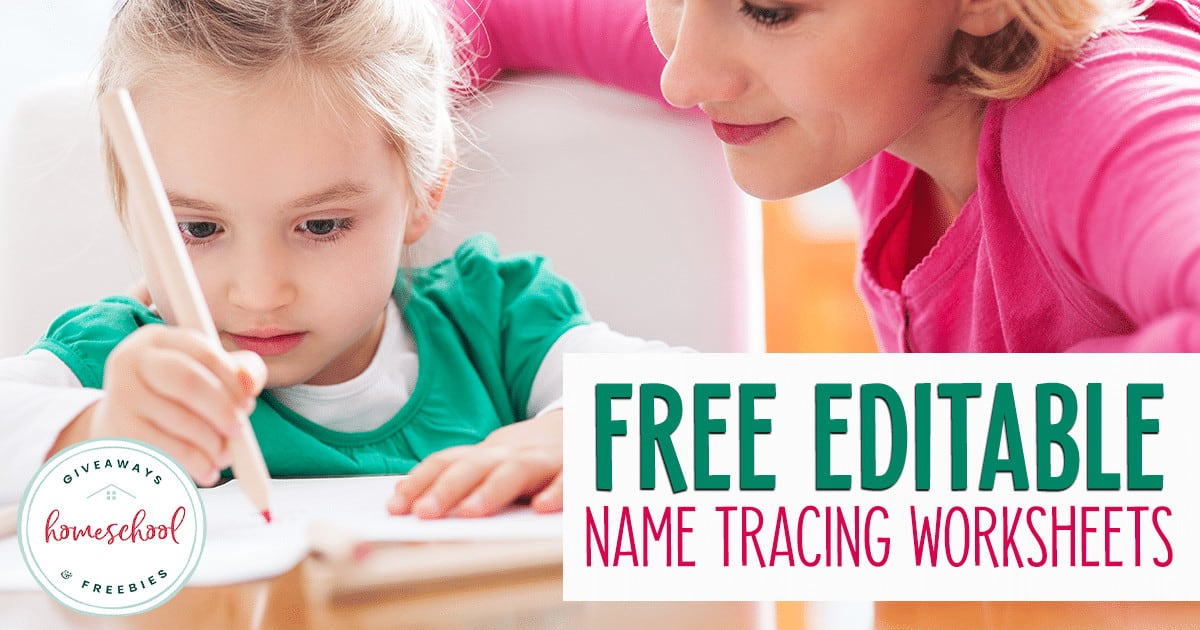 """preschooler writing with moms help - overlay """"Free Editable Name Tracing Worksheets"""""""