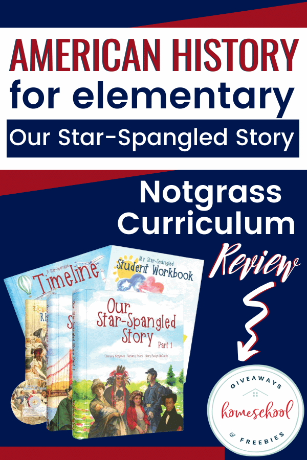 American History for Elementary: Our Star-Spangled Story with curriculum image.
