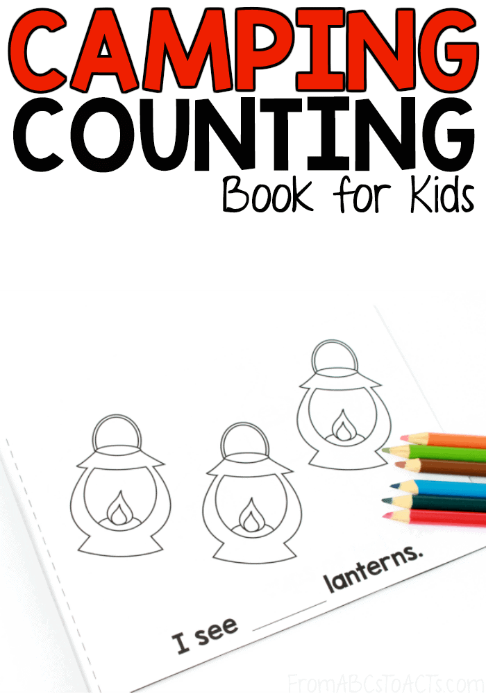 sample page of camping counting book for kids