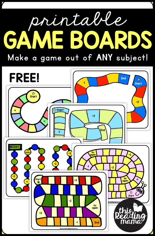 printable games for any subject