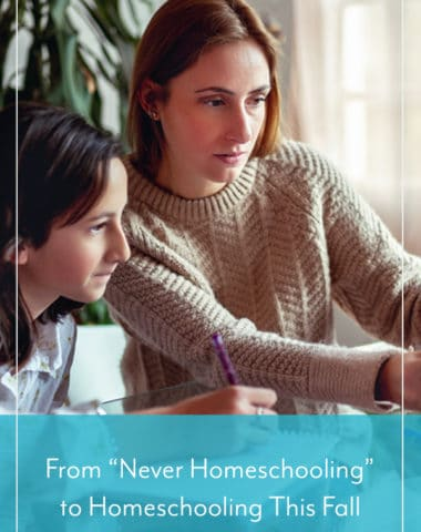 "From ""Never Homeschooling"" to Homeschooling This Fall"