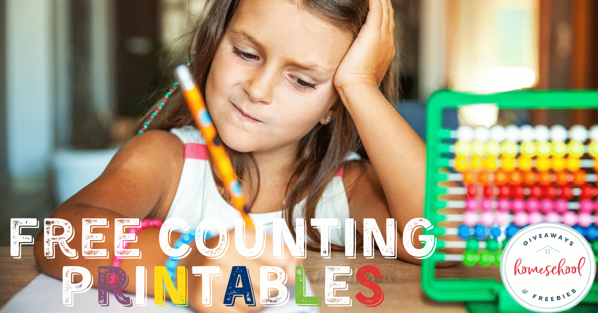 Free Counting Printables. #countingprintables #countingpractice #counttoten #numbercounting