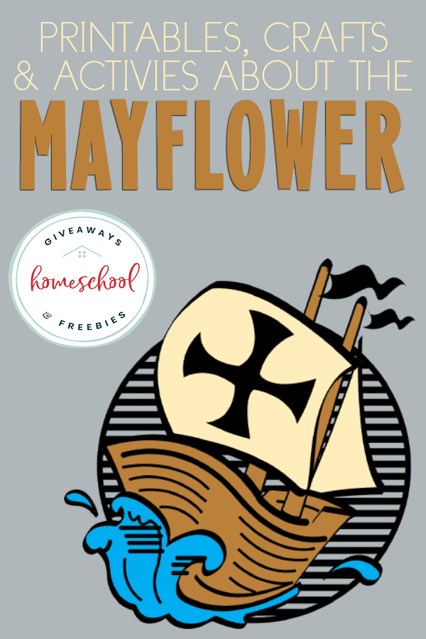 """mayflower rendering with overlay """"Printables, Crafts & Activities about the Mayflower"""""""