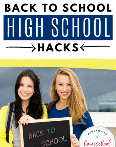 Back to School High School Hacks. #backtoschoolhighschool #homeschoolhighschool #backtoschoolhacks #highschoolhacks