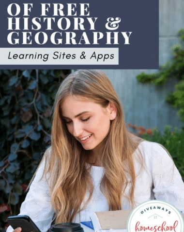 Big List of Free History & Geography Learning Sites & Apps. #historylearnignsite #historyappsforkids #geographyappsforkids #geographylearningsites