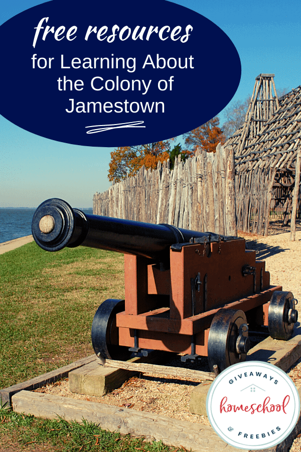 FREE Resources for Learning About the Colony of Jamestown with photo of a colony.