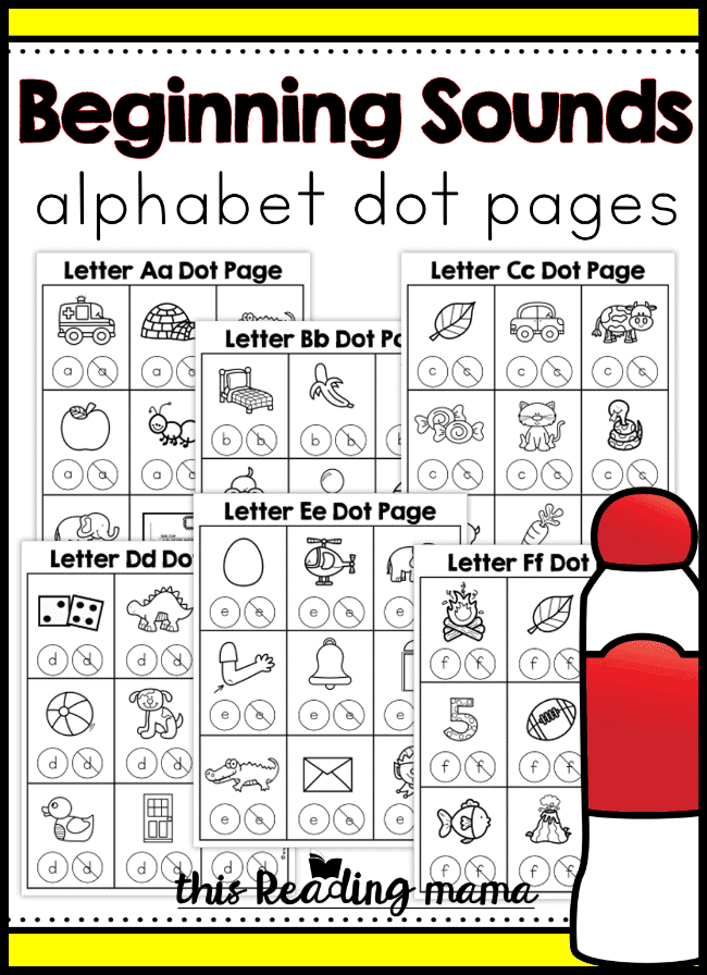 alphabet dot sample pages