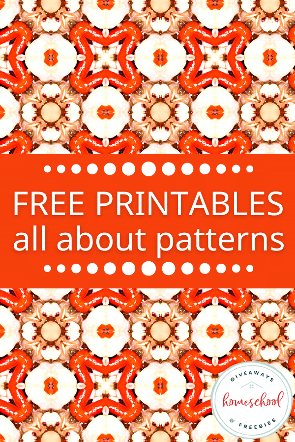free printables all about patterns with image of pattern.