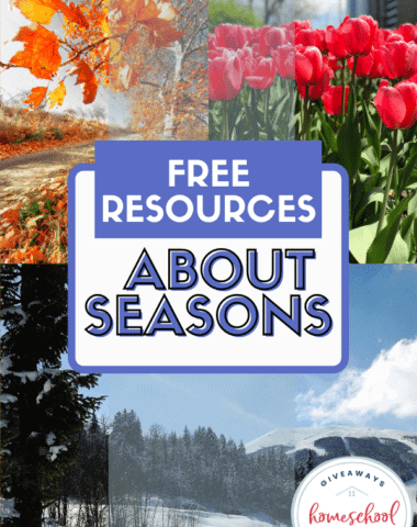 Free Resources About Seasons. #seasonsprintables #seasonsresources