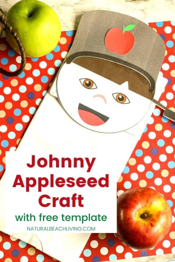 paper bag Johnny Appleseed Craft