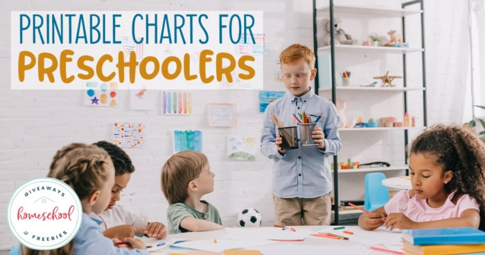preschoolers at a table with overlay - Printable Charts for Preschoolers