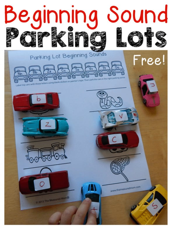 parking lot beginning sounds page