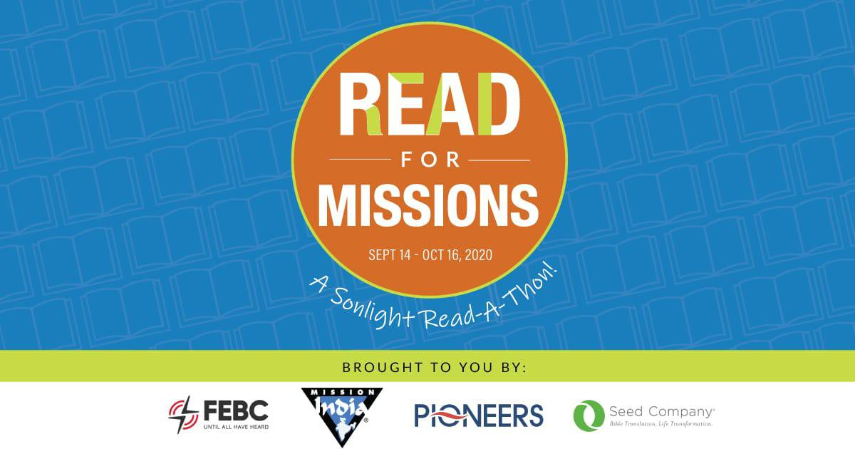 2020 Read for Missions Read-A-Thon Sept. 14 - Oct. 16