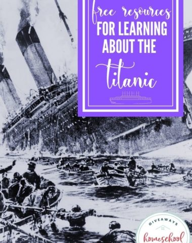 Free Resources for Learning About the Titanic. #Titanicresources #Titanicprintables