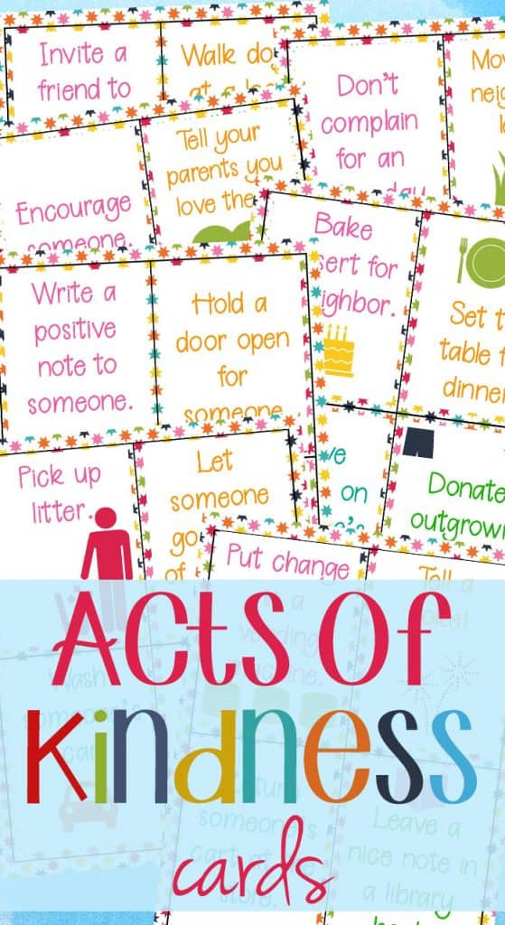 samples of Acts of Kindess Cards