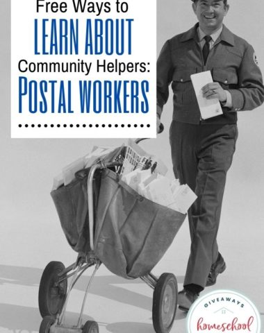 Free Ways to Learn About Community Helpers: Postal Workers. #postalworkers #communityhelperspostalworkers #psotofficeprintables #psotalworkersprintables