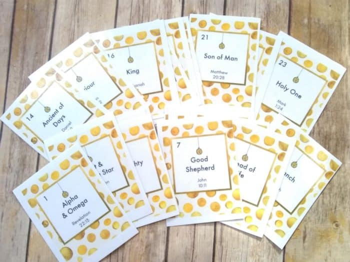 Names of Jesus Advent Cards