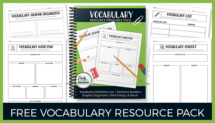 Free Vocabulary Resource Pack