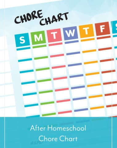 After Homeschool Chore Chart
