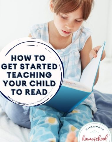 How to Get Started Teaching Your Child to Read. #teachingyourchildtoread #startteachingtoread #readingforbeginners