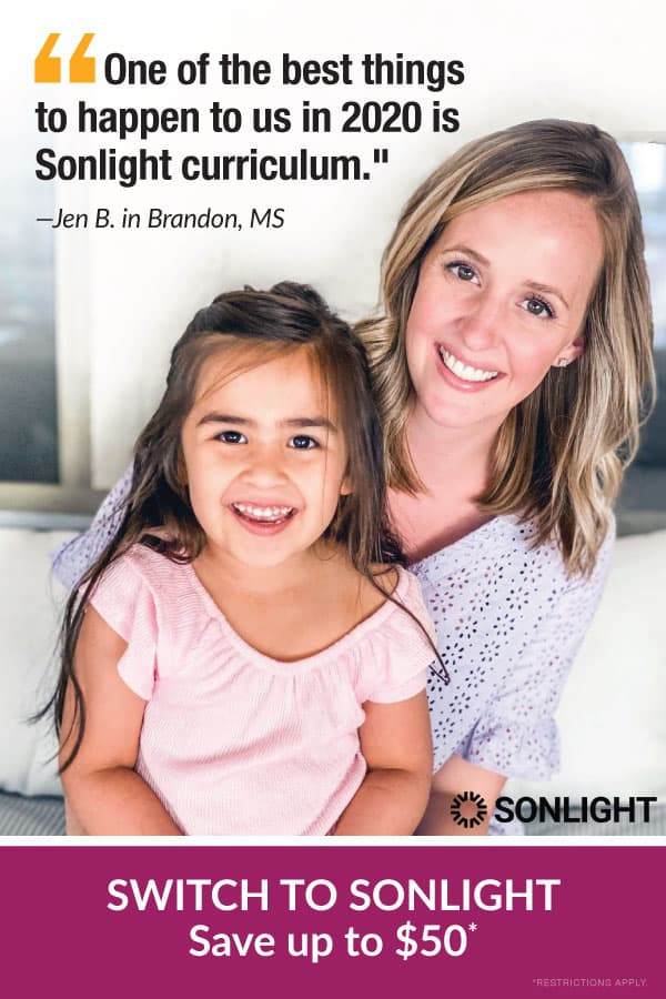 Switch to Sonlight to Save $50