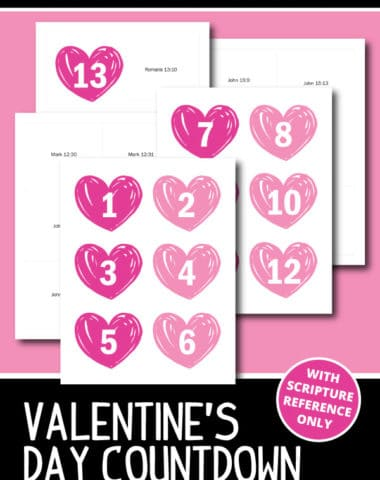 Valentine's Day Countdown Free Printable