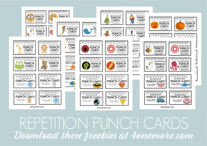 repetition punch cards