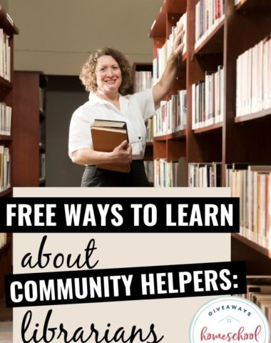 Free Ways to Learn About Librarians. #homeschoolgiveaways #librarianresources #librarianprintables #communityhelpers #communityhelperlibrarian
