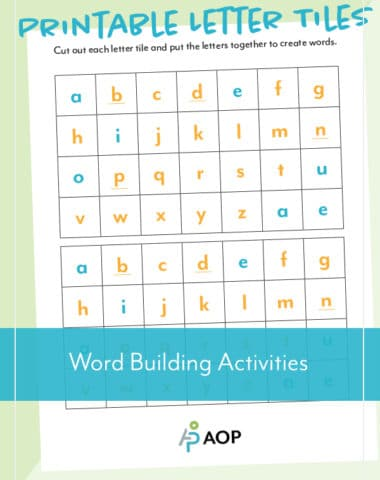 Free Printable Letter Tiles from AOP