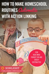 How to Make Homeschool Routines Automatic with Action Linking