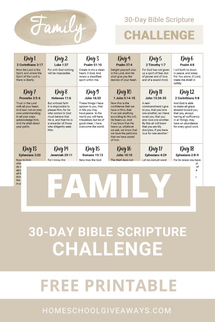 FREE 30-Day Praying For Your Family Challenge