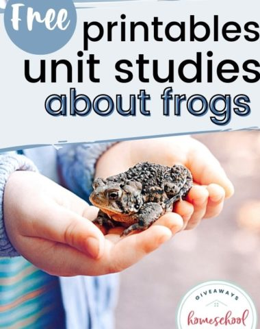 Free Printables and Unit Studies About Frogs. #frogunitstudy #FROG #frogprintables #froglifecycle