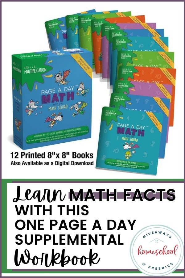 Learn Math Facts with this One Page A Day Supplemental Workbook