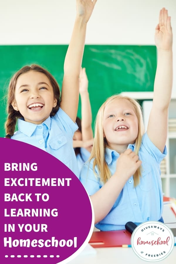 Bring Excitement Back to Learning in Your Homeschool