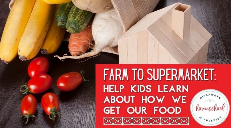 How We Get Our Food from Farms to Supermarkets. #farmtosupermarket #howwegetourfood #farmtofork #farmtotable #homeschoolgiveaways