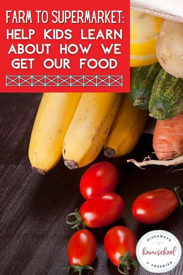 How We Get Our Food from Farms to Supermarkets. #farmstosupermarkets #howwegetourfood #farmtofork #farmtotable #homeschoolgiveaways