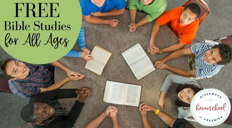 Free Bible Studies for All Ages. #biblestudyofallages #multipleagebiblestudy #multiagebiblestudy #homeschoolgiveaways