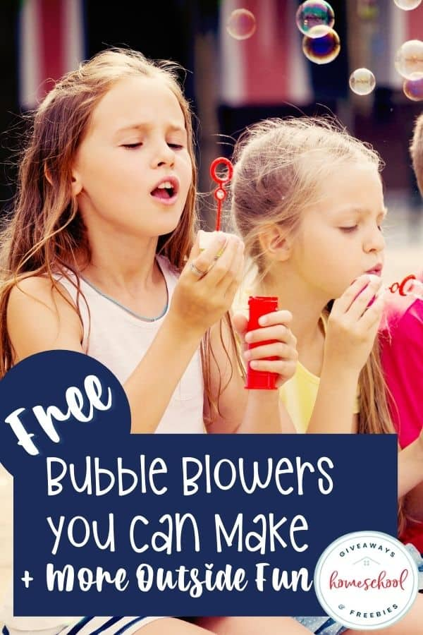 Free Bubble Blowers You Can Make. #homeschoolgiveaways #bubbleblowers #homemadebubbleblower #bubblebloweractivities