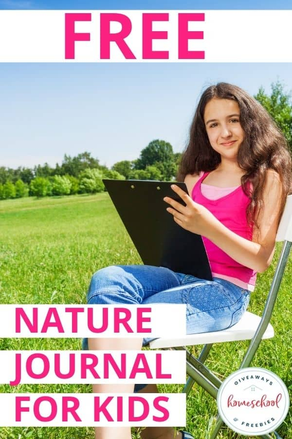 Free Nature Journals for Kids. #homeschoolgiveaways #naturejournalsforkids #kidsnaturejournals #freenaturejournals