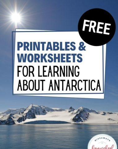 Free Printables and Worksheets for Learning About Antarctica. #homeschoolgiveaways #antarcticaworksheetspdf #antarcticaprintables #learningaboutantarctica