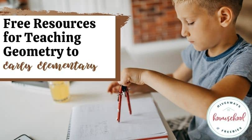 Free Resources for Teaching Geometry to Early Elementary. #homeschoolgiveaways #teachinggeometry #geometryprintables #geometryresources