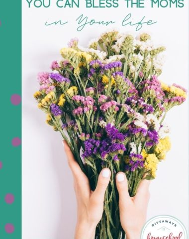 Free & Cheap Ways You Can Bless the Moms in Your Life. #homeschoolgiveaways #mothersdayideas #freeblessingsformom #blessingsformom #cheapwaystoblessmom
