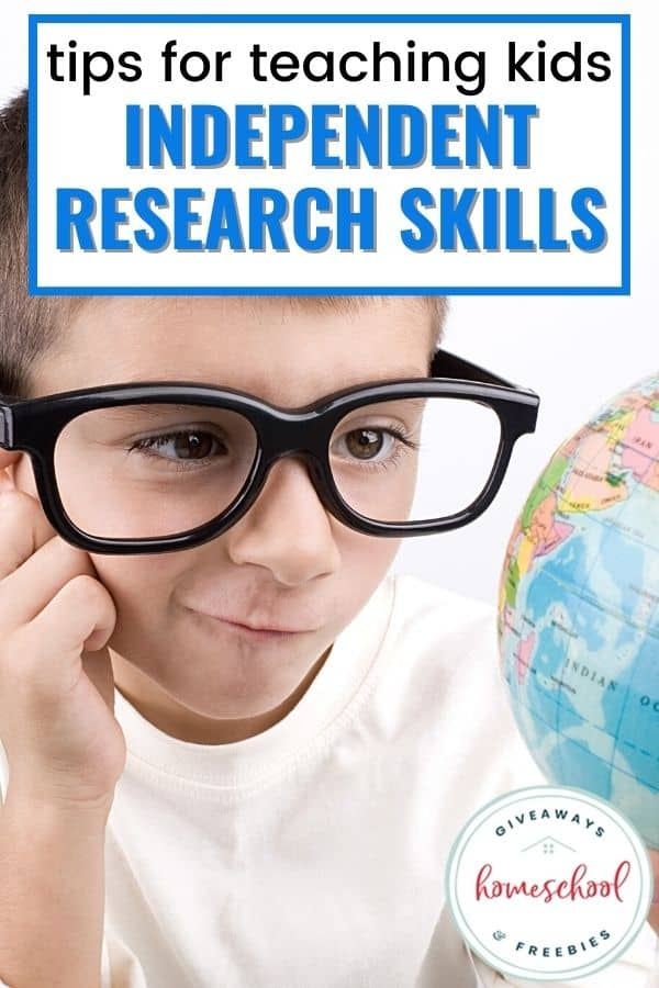 Tips for Teaching Kids Independent Research Skills. #homeschoolgiveaways #independentresearchskills #researchskillsforkids #researchprintables