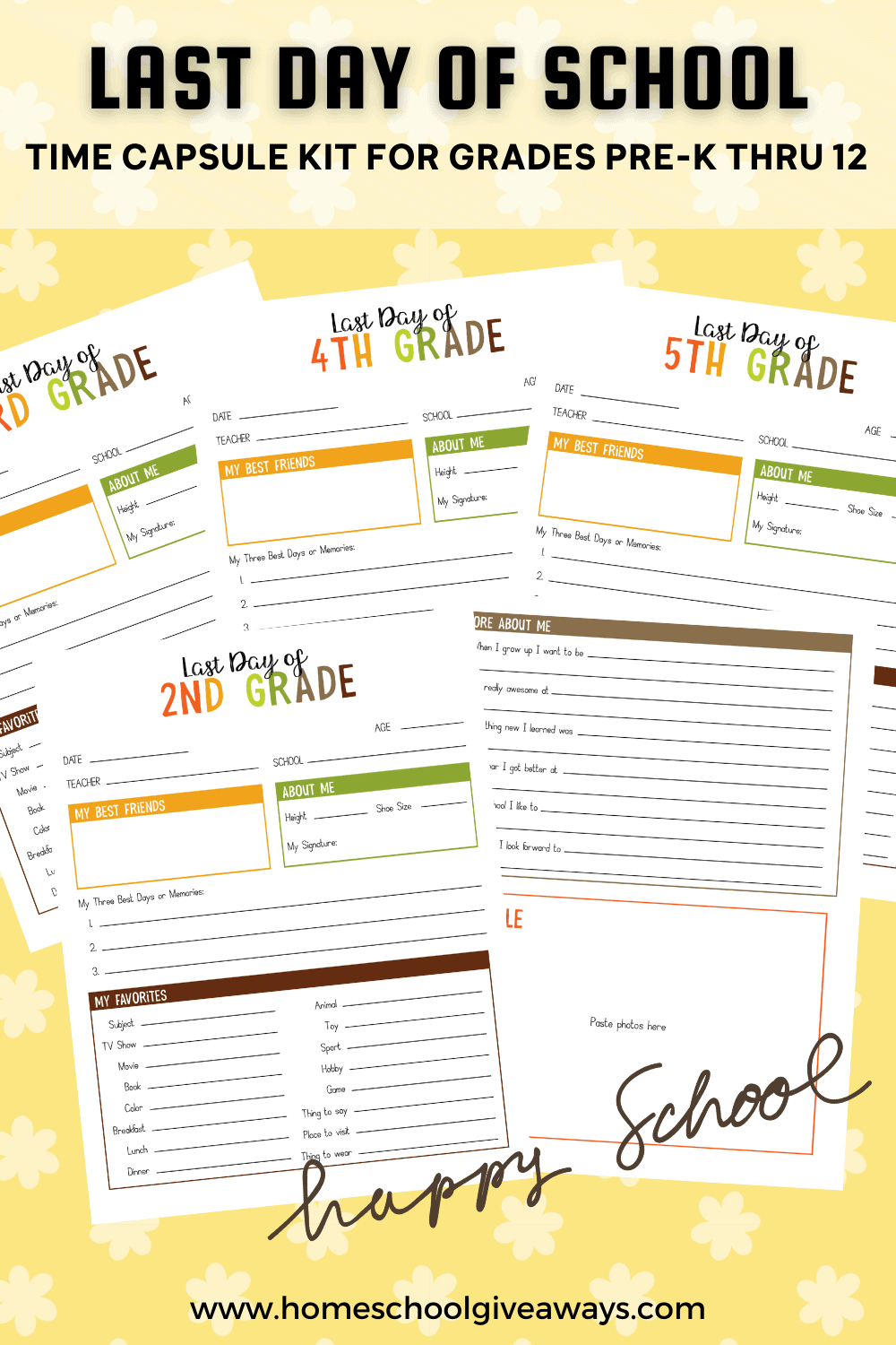 worksheets for time capsule