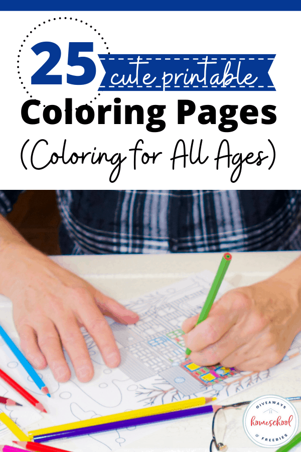 student coloring with colored pencils and stencils with text overlay cute coloring pages for all ages